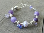 grape ice and lavender wire wrapped bracelet