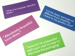 mini business cards using testimonials