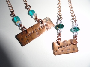 Copper Name Necklace